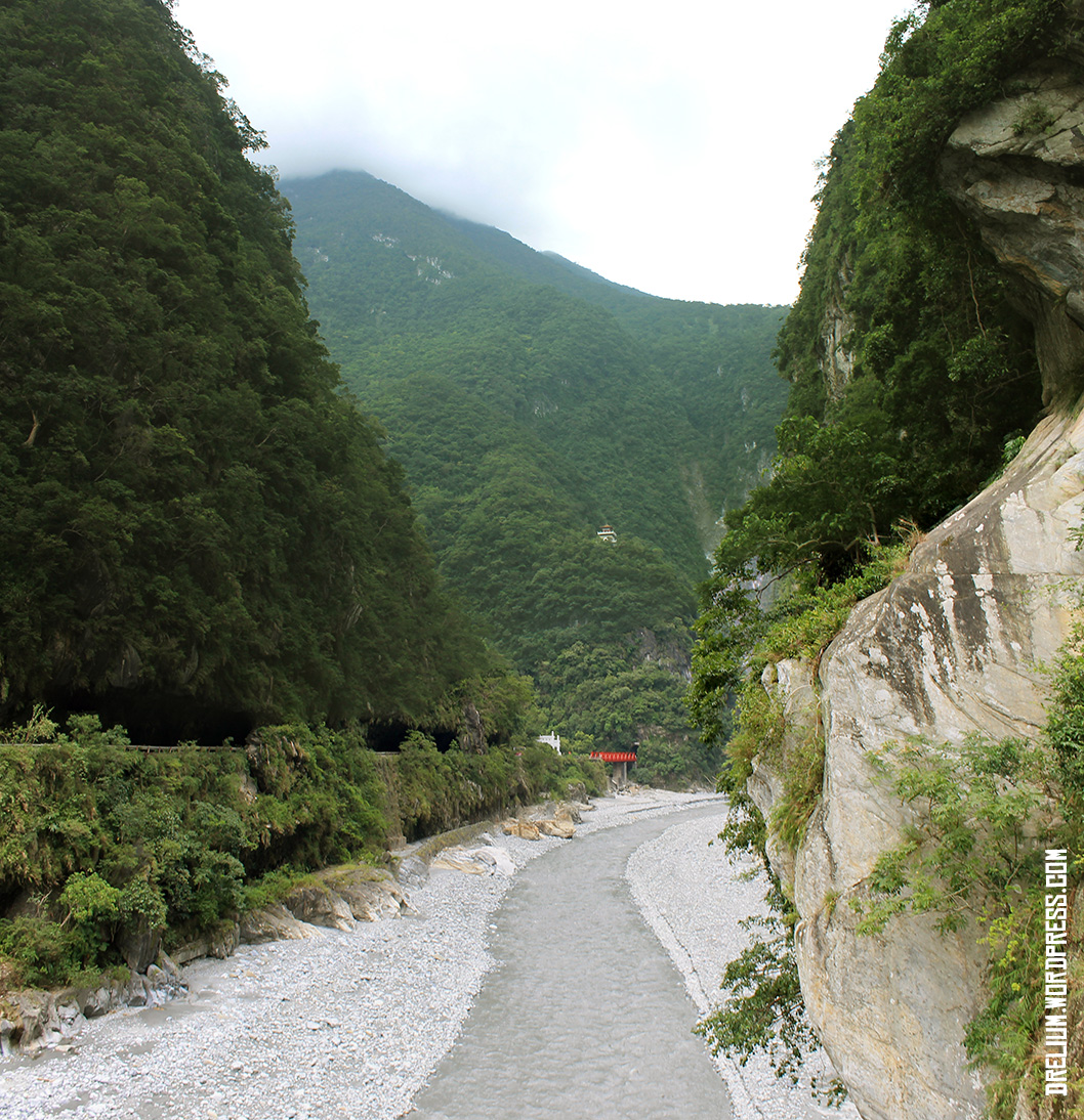 Taroko gorge view from Changchun bridge