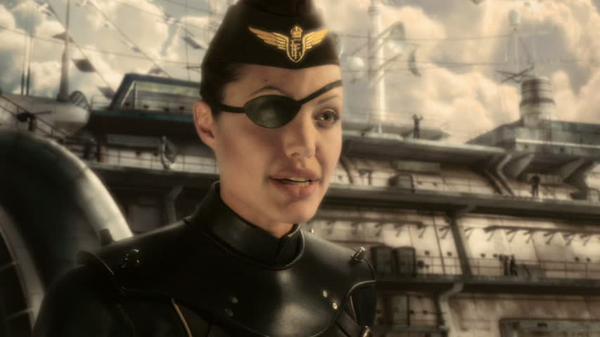 Capt. Francesca « Franky » Cook (Angelina Jolie) dans Captain Sky et le monde de demain