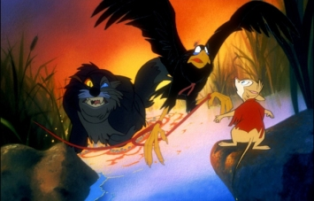 Dragon le chat dans Brisby et le secret de Nimh