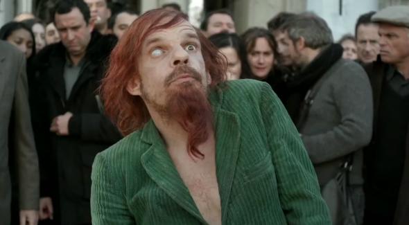Mr merde (Denis Lavant) dans Holy Motors
