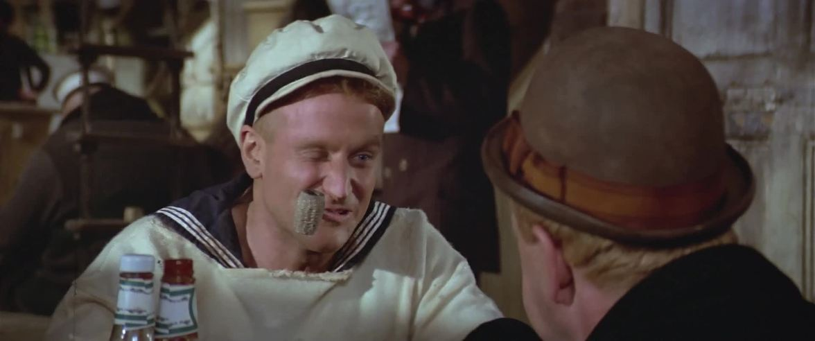 Popeye (Robin Williams) dans Popeye (1980)