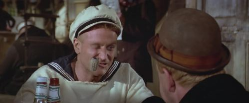 Popeye (Robin Williams) dans Popeye (1980)