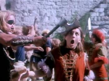 Un méchant dans le turc Tarkan contre les vikings